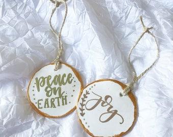 Reindeer Ornament Set Handmade Polymer Clay Ornaments