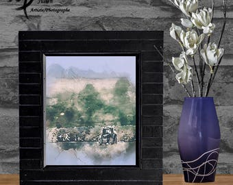 Tractor / Artistic picture / Poster / To print / digital download : JPG