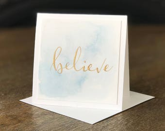 Handmade Mini Card - Believe