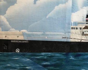 American Spirit freighter quilt pattern