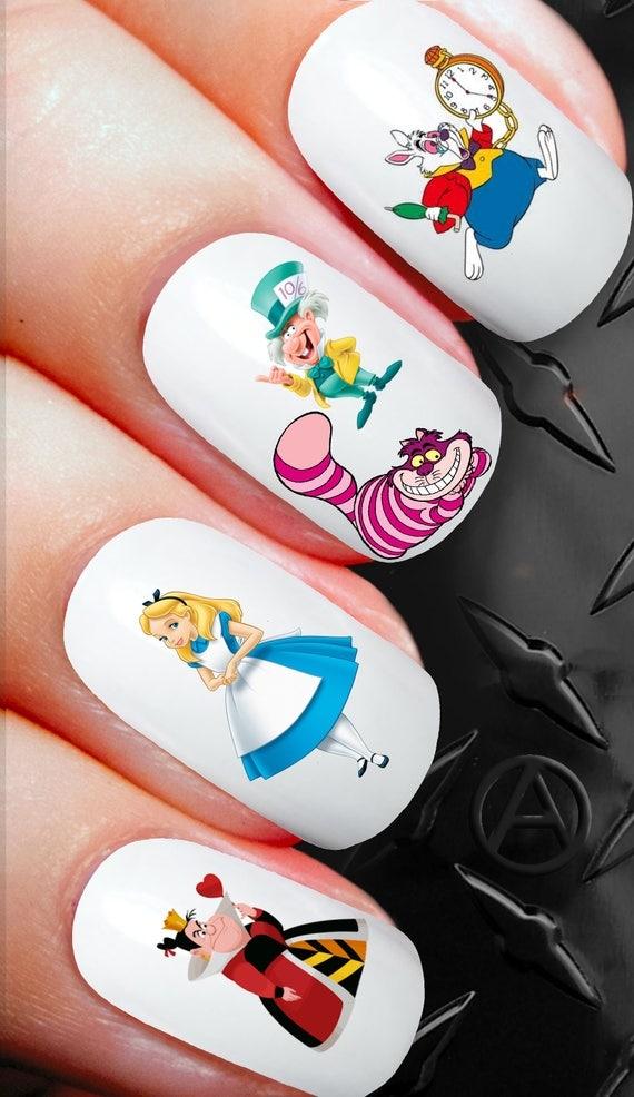 50 Nail Decals Disney Alice In Wonderland Nail sticker