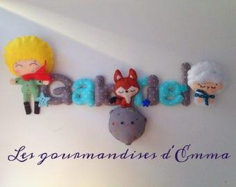 Guirlande prénom Petit aviateur et ses amis
