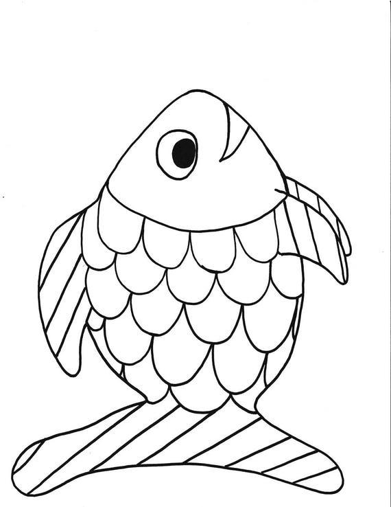 pez arco iris para imprimir para colorear página peces