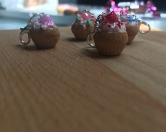 Polymer Clay Cupcake Charms