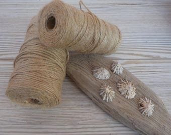 2 mm Natural Jute Twine 109 Yards/100 Meters, ONE ROLL, Craft Twine For Driftwood Wall Art,Gift Wrapping Twine