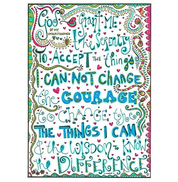 Serenity Prayer Coloring page download