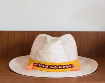 Hat straw effect TULUM