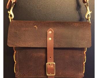 Vintage Cross Body - Large - Leather Purse, Satchel, Messenger Bag, Case, Handbag, Field Bag, Shell Bag, Clutch, Carry Bag, Laptop Bag