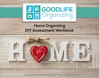 Home Organizing DIY Assessment Workbook