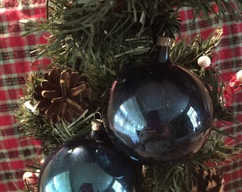 Antique glass ornaments
