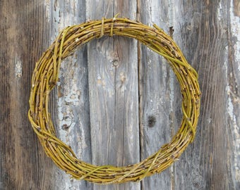 Easter Door Wreath Rustic Easter Decor Simple Rustic Wreath Willow Branches Wreath Spring Home Decor Base Natural Wreath Natural MaterialArt