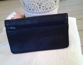 Navy Blue snap flap wallet