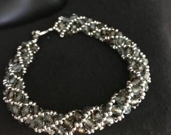 NO 354 Hand Beaded Spiral Bracelet