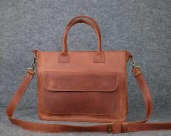 Women's messenger bag/ Leather messenger, Leather shoulder bag, Leather satchel, Laptop bag, Leather handbag, Womens messenger bag, Handmade