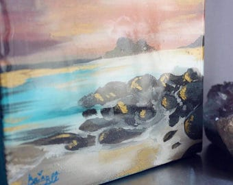 6x6 Mini Beach painting