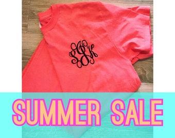 SUMMER SALE Monogrammed Short Sleeve Shirt