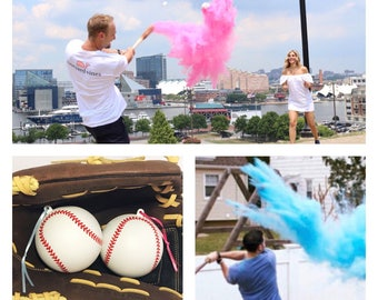 Ships next day! Baseball Gender Reveal Baseball Gender Reveal Ideas Baseball Reveal Gender Reveal Baseballs Gender