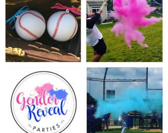 Ships Next Day! Summer sale! Baseball Gender Reveal Baseball Gender Reveal Ideas Baseball
