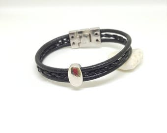 "Leather bracelet for men ""ZEUS"""