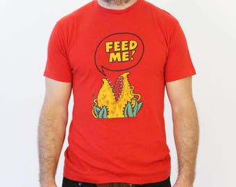 Vintage 1980s Little Shop of Horrors Feed Me Seymour Tee