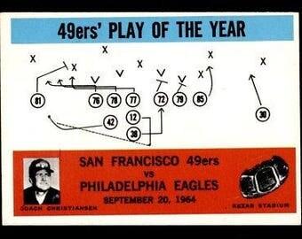 Vintage 1965 Philadelphia #182 49ers Play of the Year EX-MT+