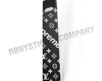 Skin Decal Wrap for JUUL Black & White Supreme