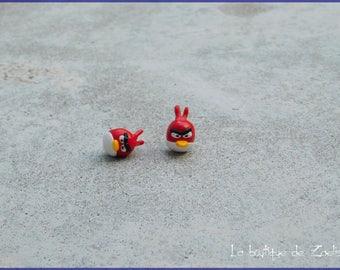 Angry Bird kawaii earrings