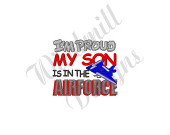Air Force Son - Machine Embroidery Design