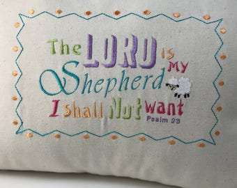 Lord is My Shepherd Pillow