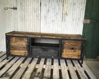 Steel industrial Cabinet wood