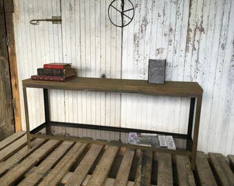 Cabinet industrial khaki tv bench