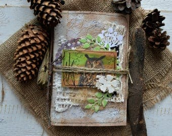 Nature style blank junk journal.Memory book keepsake.Made to order.