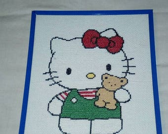 Hello Kitty picture (embroidered)