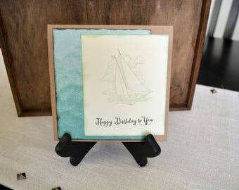Nautical Birthday cards, Sailing cards, Homemade birthday cards, Maiden Voyage