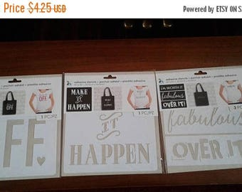 Summer Sale Momenta | Adhesive Stencils | 8in x 8in | Choose from 3 Designs