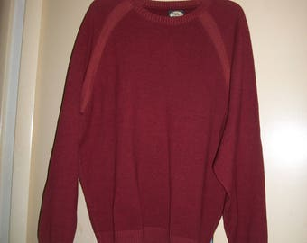 Vintage Tommy Bahama Russet Red Cotton Blend Sweater Size XL