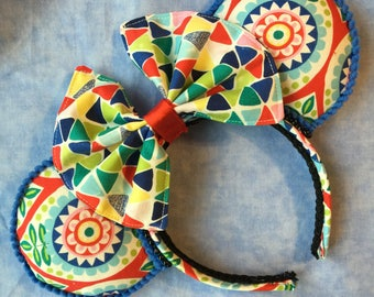 Handcrafted Mouse Ears - Small World (Mary Blair) inspired Series