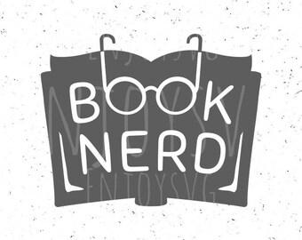 Books nerd svg, Nerd Svg, Book Svg, Geek SVG, Book Nerd Cut File, Books lover svg, Reading SVG, Books nerd svg file, Silhouette SVG Cricut