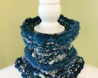 Knit Neck warmer - blues