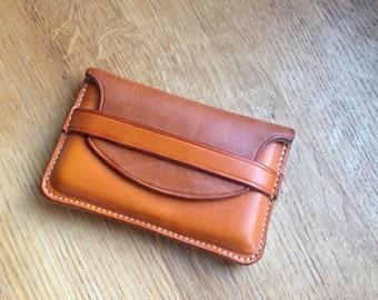 Bi Coloured leather credit card holder.
