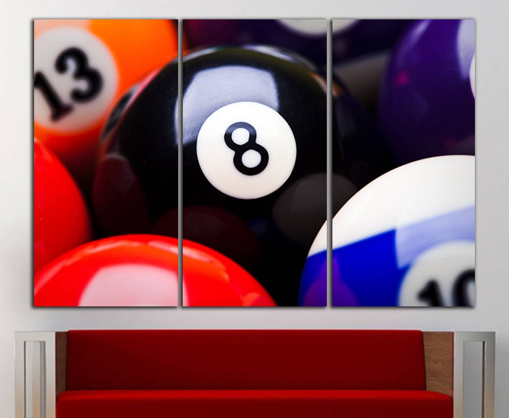 Pool wall art billiards wall art canvas pool wall decor zoom amipublicfo Images
