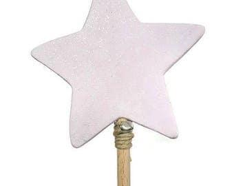 Pretty glitter wooden wand. Fairy Princess wand