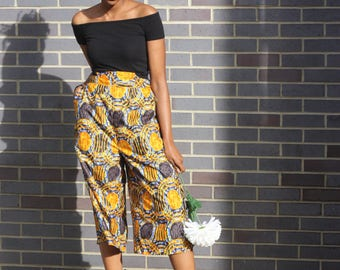 ANKARA CULOTTES - African print culottes/trousers