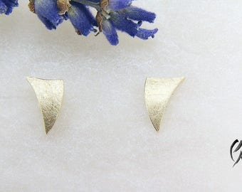Earrings rose gold 585 /-, small sailing