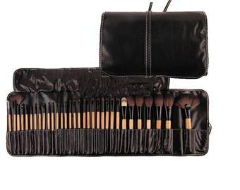 32pcs Makeup brusheS/Foundation Cosmetic Make up brush set,Professional high quality make up brushes with bag