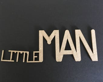 "Laser cut Chipboard ""little man"""