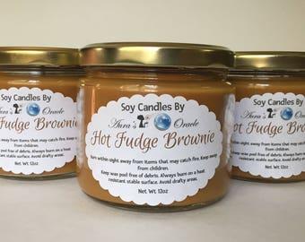 Hot Fudge Brownie 12oz Soy Wax Candle
