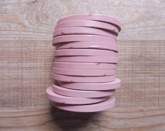Tape 1 piece 4 mm 10 m pink with small decorations