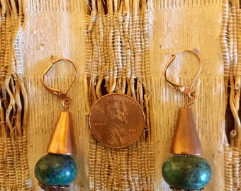 Chinese Turquoise  Earrings   #318
