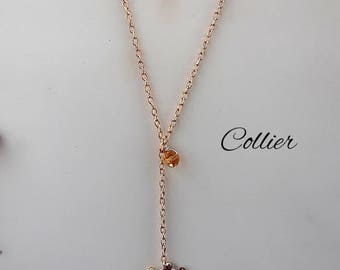 Long necklace with Wired heart.